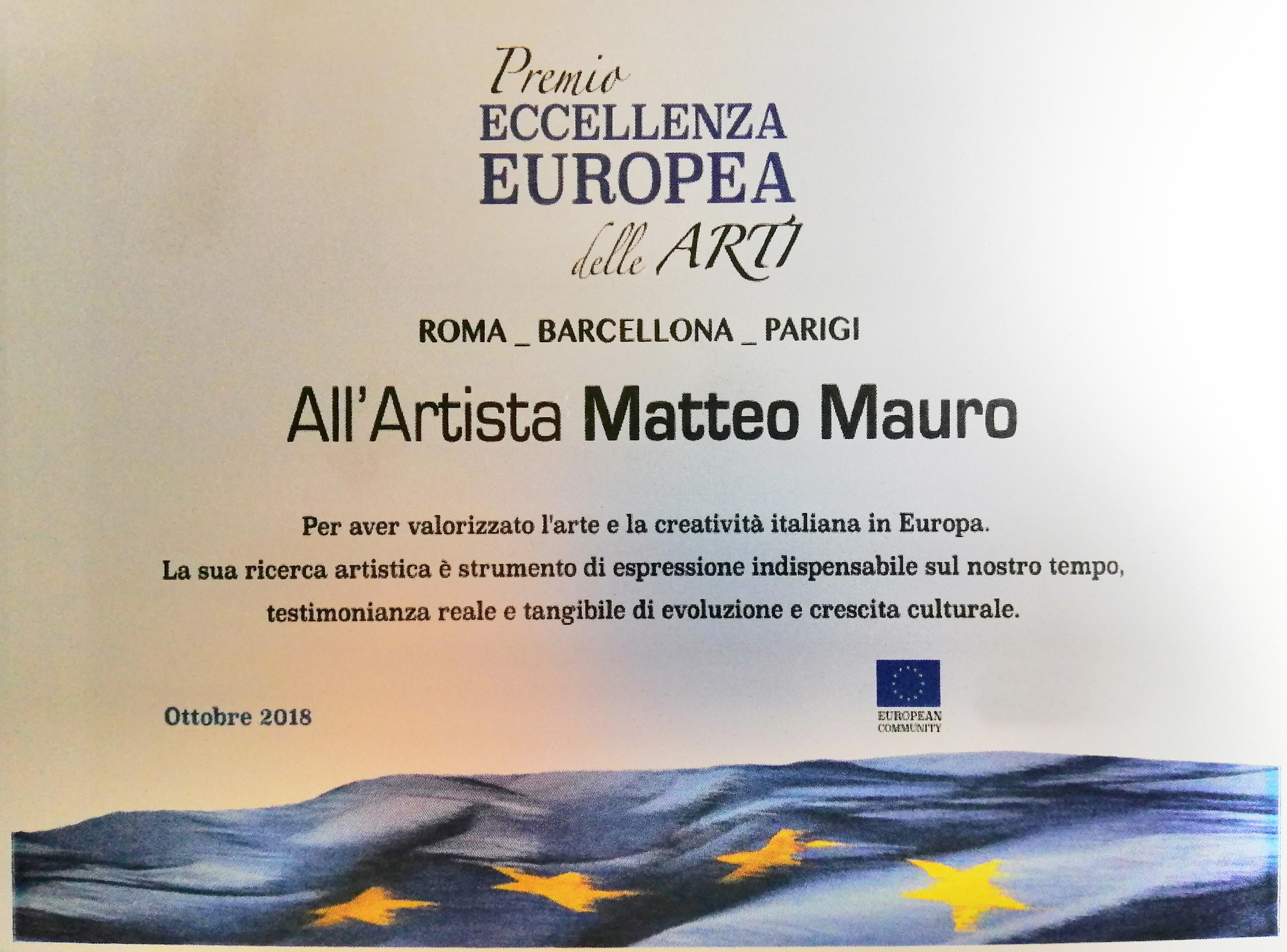 Premio All'Artista Matteo Mauro